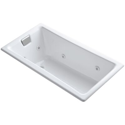 Tea-For-Two Drop-In Whirlpool with End Drain, Custom Pump Location and Heater without Trim Finish: White