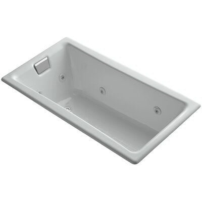 Tea-For-Two Drop-In Whirlpool with End Drain, Custom Pump Location and Heater without Trim Finish: Ice Grey
