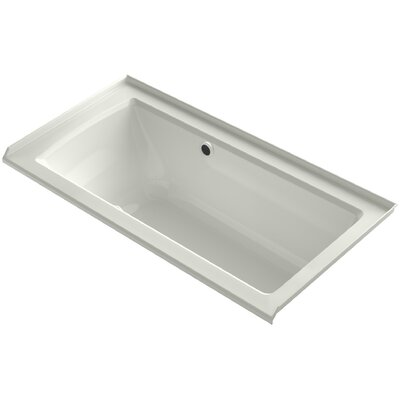 Archer Alcove BubbleMassage� Air Bath with Tile Flange, Right-Hand Drain and Bask Heated Surface Finish: Dune