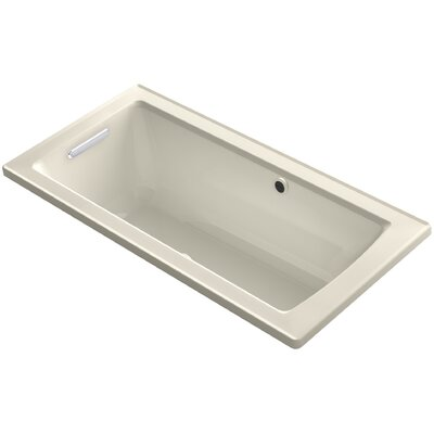 Archer Drop-in BubbleMassage� Air Bath with Bask� Heated Surface and Reversible Drain Finish: Almond