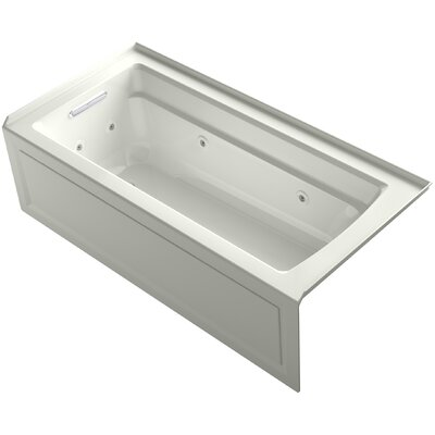 Archer Integral Apron Whirlpool with Tile Flange and Left-Hand Drain Finish: Dune