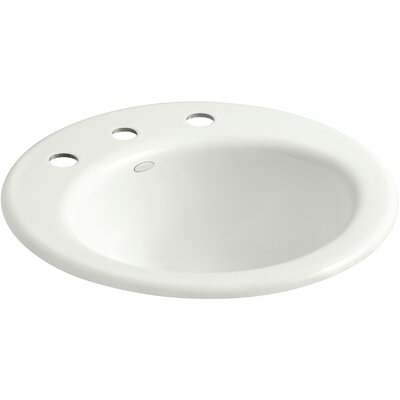 Radiant Metal Circular Drop-In Bathroom Sink with Overflow Finish: Dune