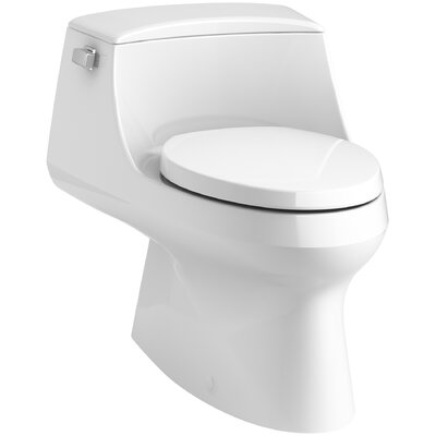 San Raphael Skirted 1-Piece Elongated 1.28 GPF Toilet with Left-Hand Trip Lever