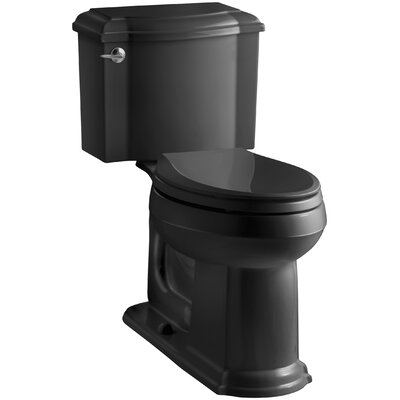 Devonshire Comfort Height Two Piece Elongated Toilet Finish: Black Black