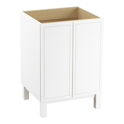 Jacquard 24 Vanity with Furniture Legs and 2 Doors Finish: Linen White