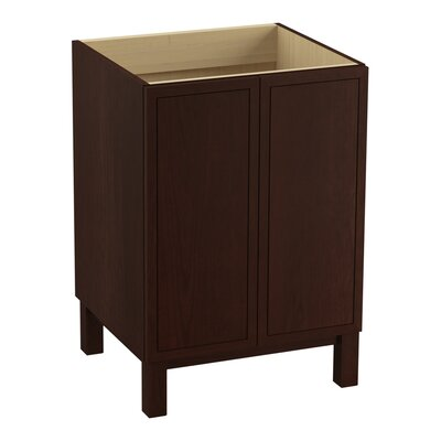 Jacquard� 24 Vanity with Furniture Legs and 2 Doors Finish: Cherry Tweed