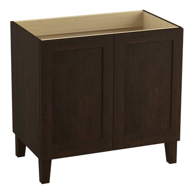 Poplin 36 Vanity with Furniture Legs and 2 Doors Finish: Claret Suede