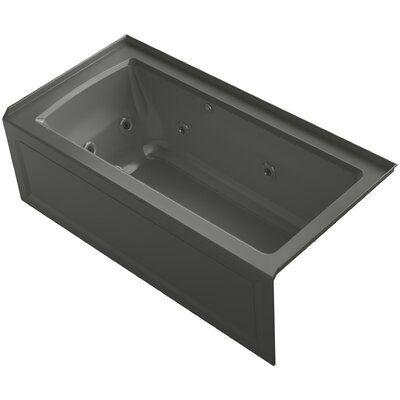 Archer Alcove Whirlpool and Bubblemassage� Air Bath with Right-Hand Drain Finish: Thunder Grey