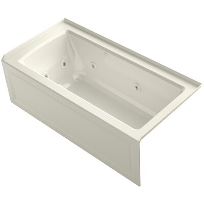 Archer Alcove Whirlpool and Bubblemassage� Air Bath with Right-Hand Drain Finish: Biscuit