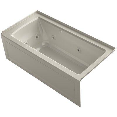 Archer Alcove Whirlpool and Bubblemassage Air Bath with Right-Hand Drain Finish: Sandbar