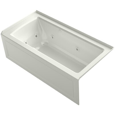 Archer Alcove Whirlpool and Bubblemassage� Air Bath with Right-Hand Drain Finish: Dune