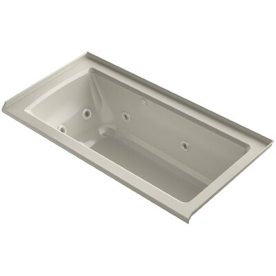 Archer Integral Flange Whirlpool and BubbleMassage Air Bath with Right-Hand Drain Finish: Sandbar