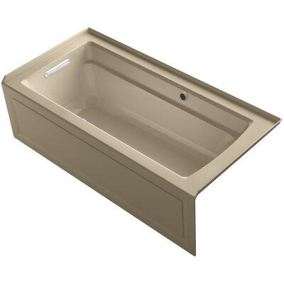 Archer Alcove Bath with Bask Heated Surface, Integral Apron, Tile Flange and Left-Hand Drain Finish: Mexican Sand
