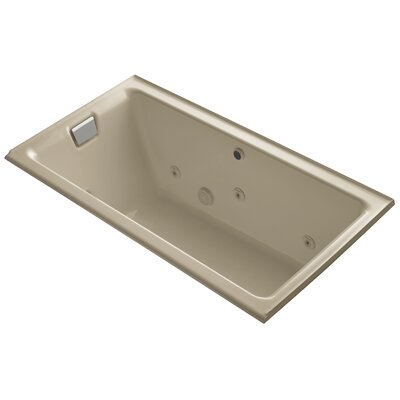 Tea-For-Two Alcove Whirlpool with Left-Hand Drain and Heater without Trim Finish: Mexican Sand