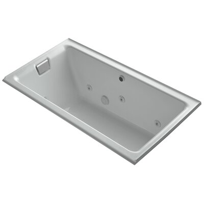 Tea-For-Two Alcove Whirlpool with Left-Hand Drain and Heater without Trim Finish: Ice Grey
