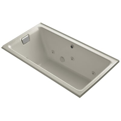 Tea-For-Two Alcove Whirlpool with Left-Hand Drain and Heater without Trim Finish: Sandbar