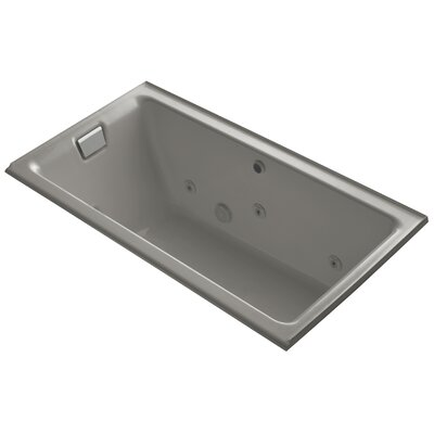 Tea-For-Two Alcove Whirlpool with Left-Hand Drain and Heater without Trim Finish: Cashmere