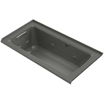 Archer Alcove Whirlpool with Bask� Heated Surface, Tile Flange and Left-Hand Drain Finish: Thunder Grey