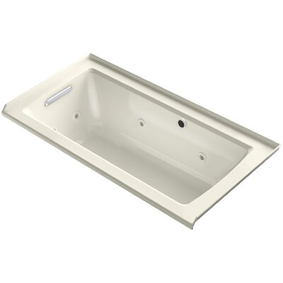 Archer Alcove Whirlpool with Bask� Heated Surface, Tile Flange and Left-Hand Drain Finish: Biscuit