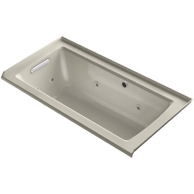 Archer Alcove Whirlpool with Bask Heated Surface, Tile Flange and Left-Hand Drain Finish: Sandbar