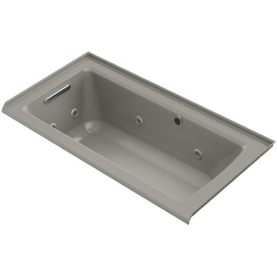 Archer Alcove Whirlpool with Bask� Heated Surface, Tile Flange and Left-Hand Drain Finish: Cashmere