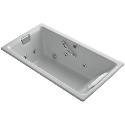 Tea for Two Massage Whirlpool Bath Finish: Ice Grey