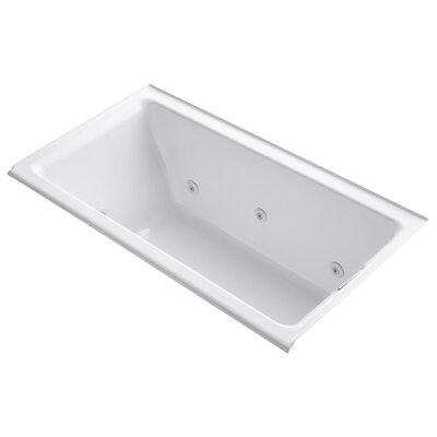Tea-For-Two Alcove Whirlpool with Right-Hand Drain and Heater without Trim Finish: White