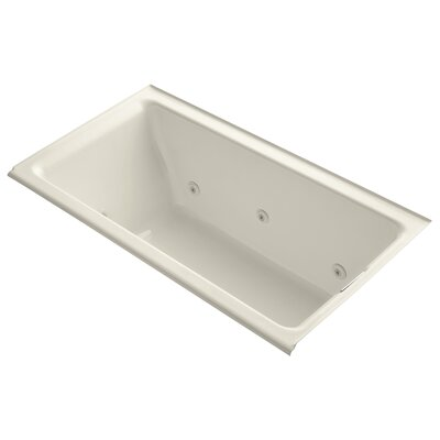Tea-For-Two Alcove Whirlpool with Right-Hand Drain and Heater without Trim Finish: Almond