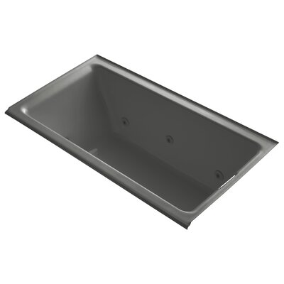 Tea-For-Two Alcove Whirlpool with Right-Hand Drain and Heater without Trim Finish: Thunder Grey