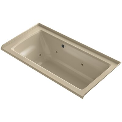 Archer Alcove Whirlpool with Bask Heated Surface, Tile Flange and Right-Hand Drain Finish: Mexican Sand