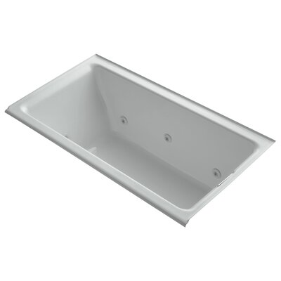 Tea-For-Two Alcove Whirlpool with Right-Hand Drain and Heater without Trim Finish: Ice Grey