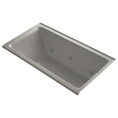 Tea-For-Two Alcove Whirlpool with Right-Hand Drain and Heater without Trim Finish: Cashmere