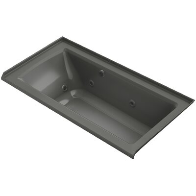 Archer Alcove Whirlpool with Bask� Heated Surface, Tile Flange and Right-Hand Drain Finish: Thunder Grey