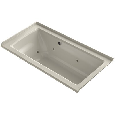 Archer Alcove Whirlpool with Bask Heated Surface, Tile Flange and Right-Hand Drain Finish: Sandbar