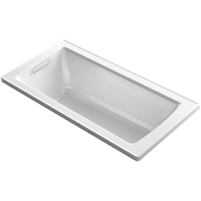 Archer VibrAcoustic Drop-in Bath with Bask� Heated Surface and Reversible Drain Finish: White
