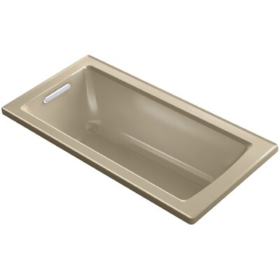 Archer Drop-in VibrAcoustic� Bath with Reversible Drain Finish: Mexican Sand