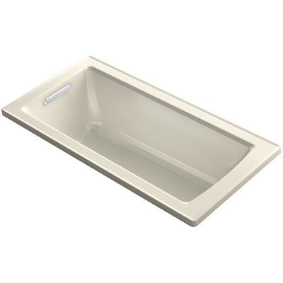 Archer Drop-in VibrAcoustic� Bath with Reversible Drain Finish: Ice Grey