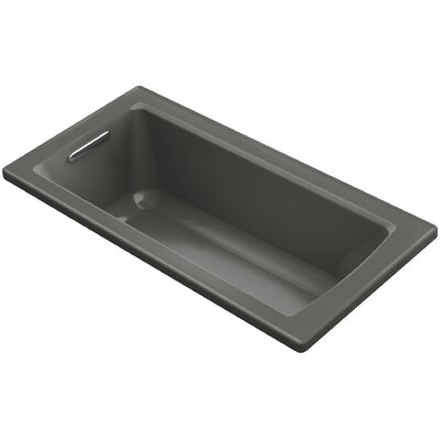 Archer VibrAcoustic Drop-in Bath with Bask� Heated Surface and Reversible Drain Finish: Thunder Grey