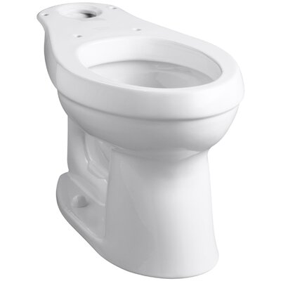 Cimarron Comfort Height Elongated Toilet Bowl with Class Five Flushing Technology Finish: White