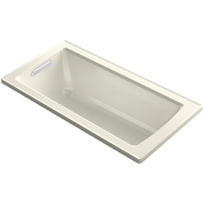 Archer Drop-in VibrAcoustic� Bath with Reversible Drain Finish: Biscuit