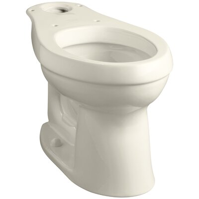 Cimarron Comfort Height Elongated Toilet Bowl with Class Five Flushing Technology Finish: Honed White