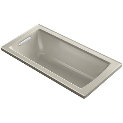 Archer VibrAcoustic Drop-in Bath with Bask� Heated Surface and Reversible Drain Finish: Sandbar