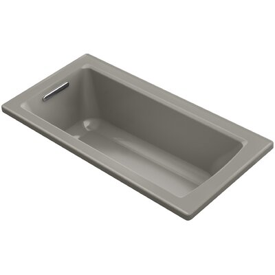 Archer VibrAcoustic Drop-in Bath with Bask� Heated Surface and Reversible Drain Finish: Cashmere