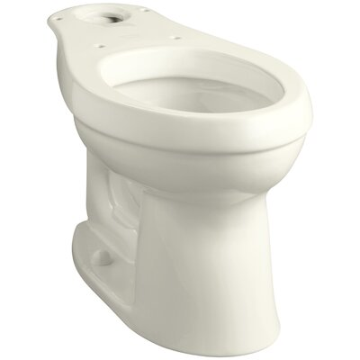Cimarron Comfort Height Elongated Toilet Bowl with Class Five Flushing Technology Finish: Biscuit
