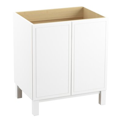 Jacquard 30 Vanity with Furniture Legs and 2 Doors Finish: Linen White