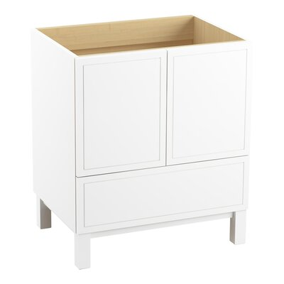 Jacquard 30 Vanity with Furniture Legs, 2 Doors and 1 Drawer Finish: Linen White