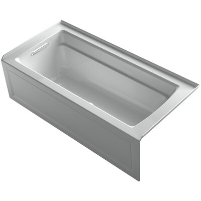 Archer Alcove BubbleMassage� Air Bath with Integral Apron, Left-Hand Drain and Bask� Heated Surface Finish: Ice Grey