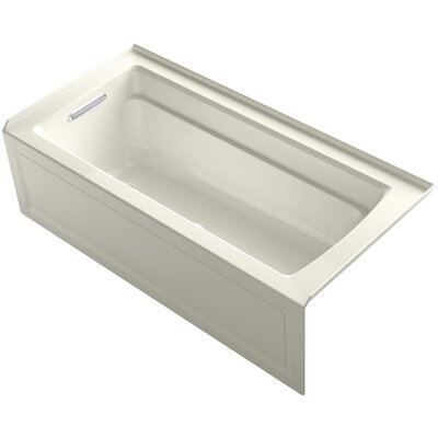 Archer Alcove BubbleMassage� Air Bath with Integral Apron, Left-Hand Drain and Bask� Heated Surface Finish: Biscuit