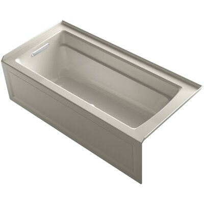 Archer BubbleMassage� Whirlpool Bath with Integral Apron and Left-Hand Drain Finish: Sandbar