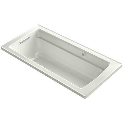 Archer Drop-in Bubblemassage Air Bath with Bask Heated Surface and Reversible Drain Finish: Dune
